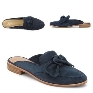 Bass Shoes • Ebbie Slip-on Mule • Blue Suede